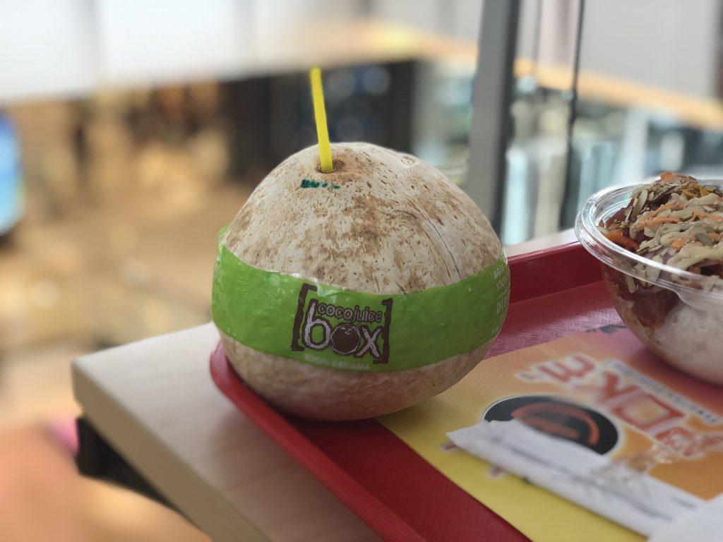 Poké @ Panama - Coco Juice Box